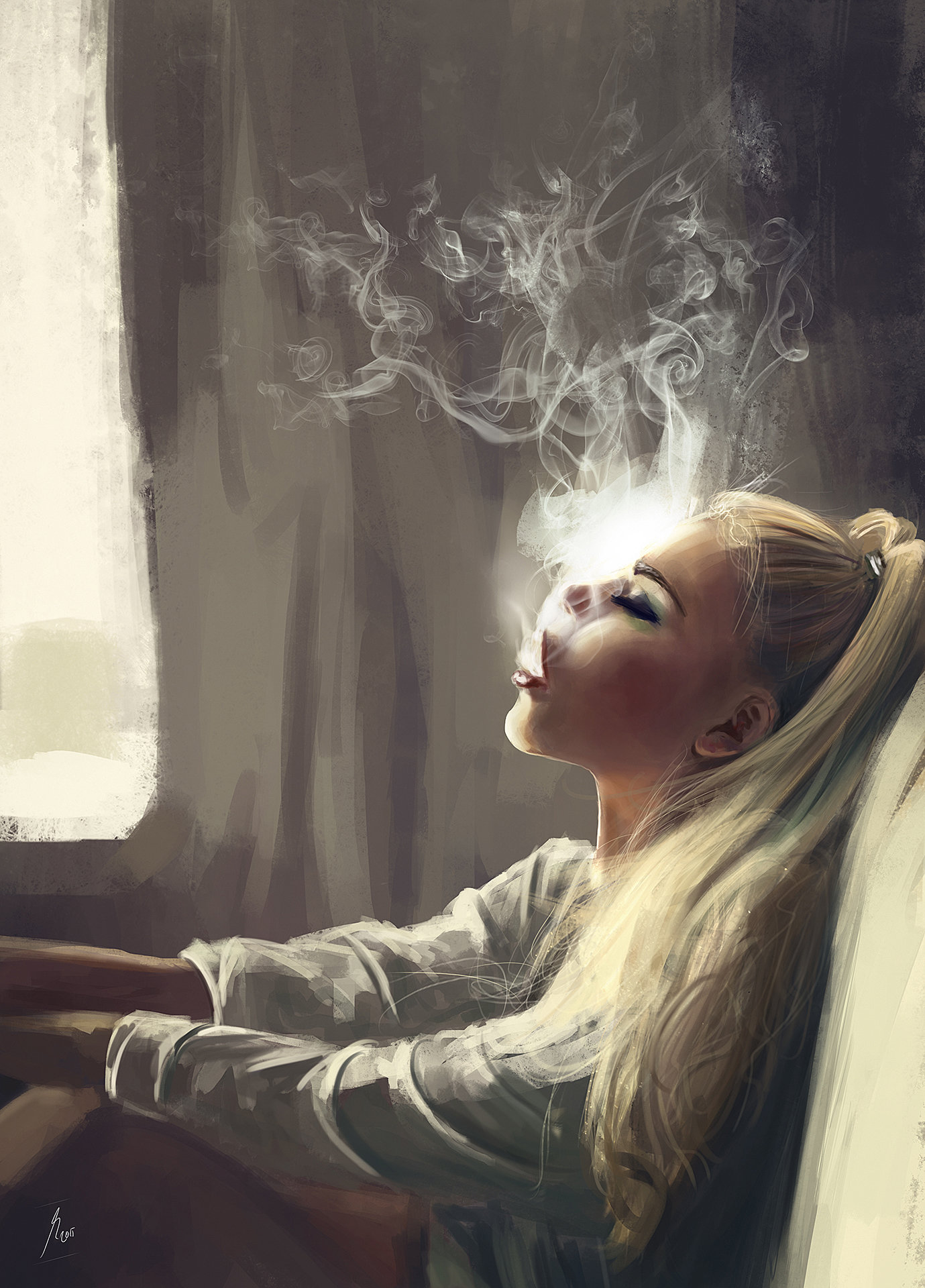 Reha sakar smoking girl