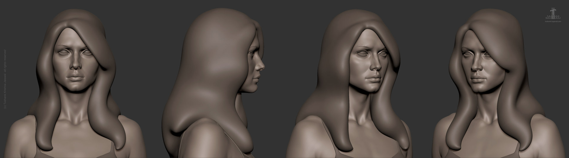 Tushank k jaiswal anatomy study female head