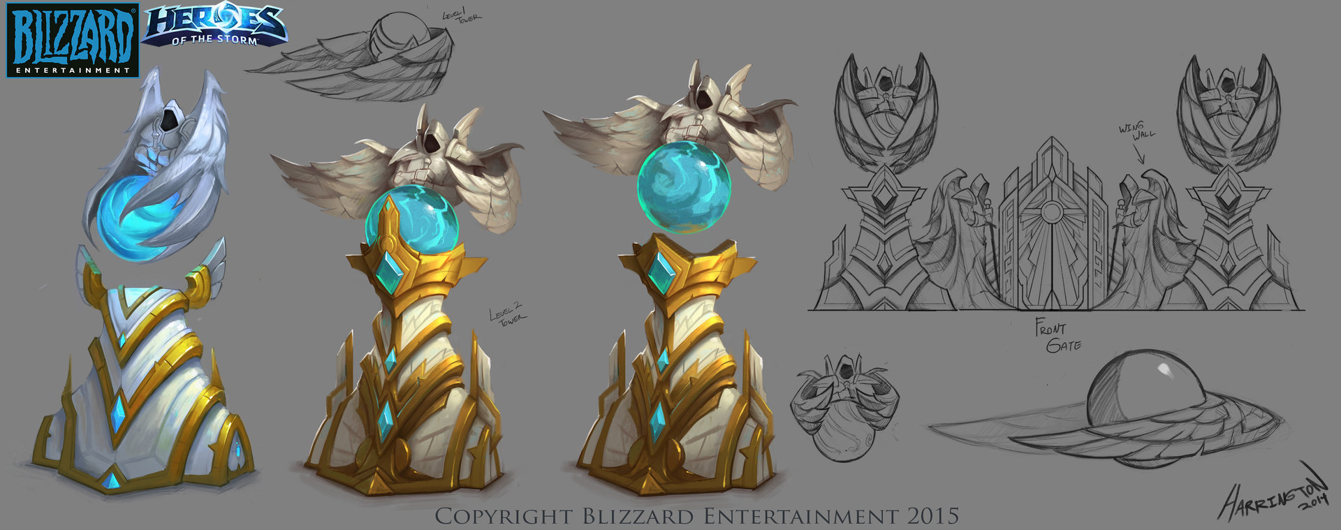 Artstation Heroes Of The Storm Heaven Tower Concept