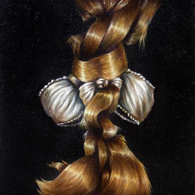J chapman blonde bow