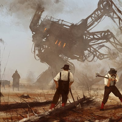 Jakub rozalski machine over muscles1a