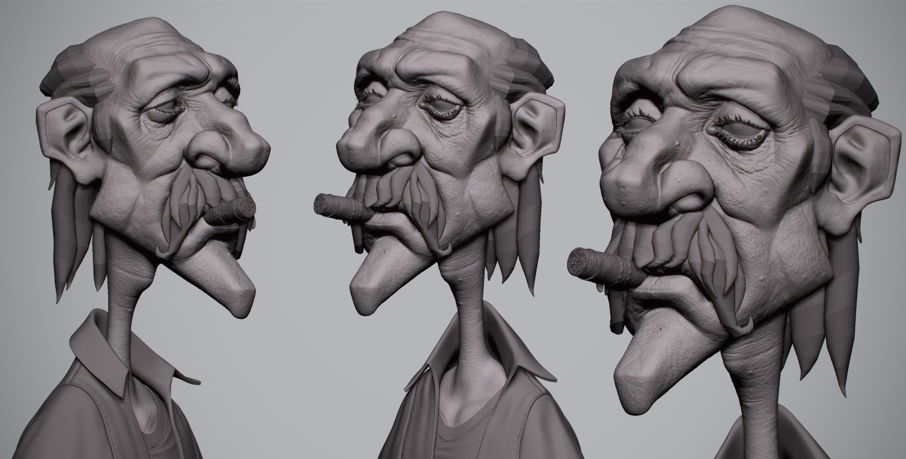 Antone magdy getting old zbrush