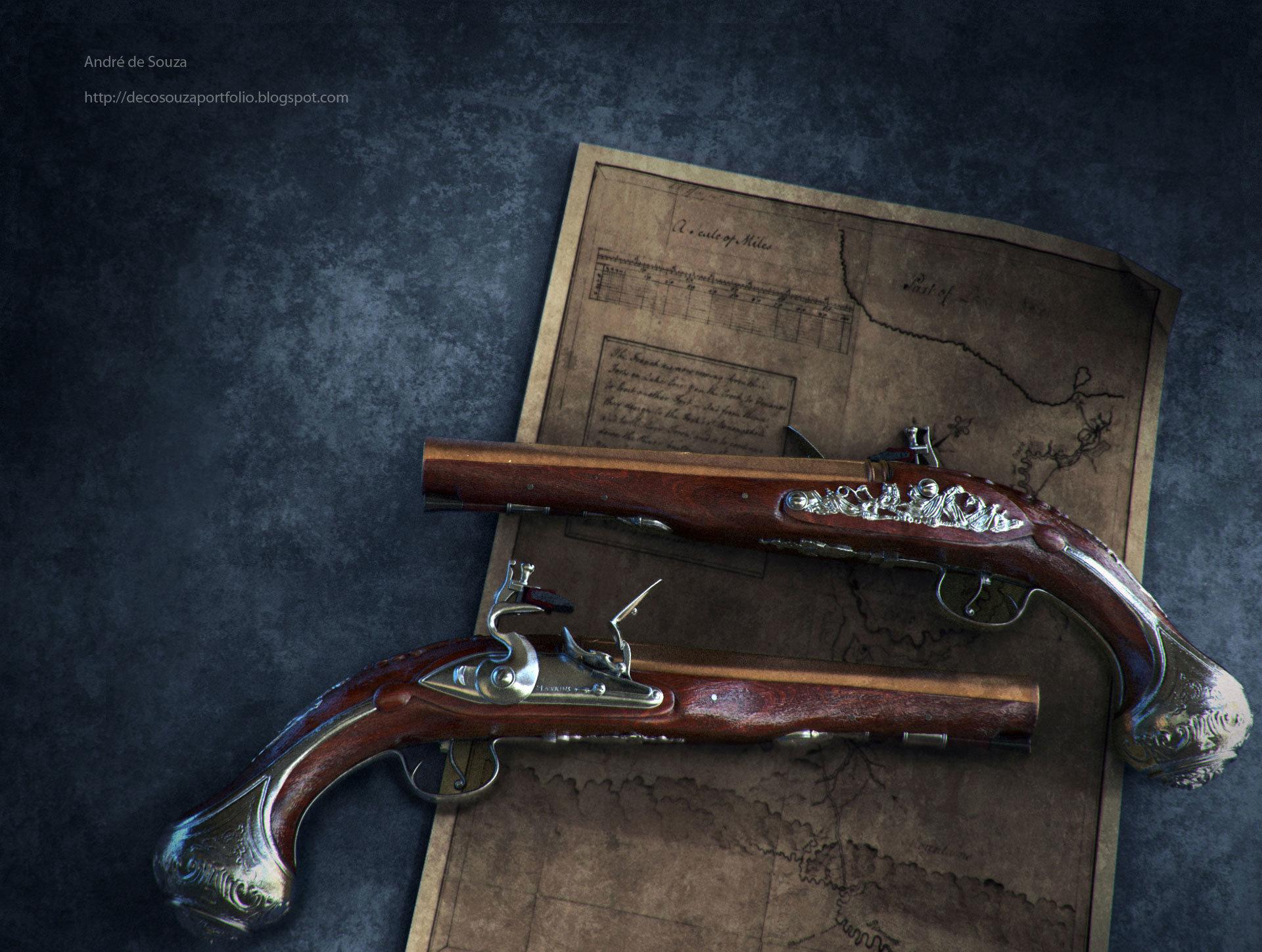 Andre de souza flintlock pistol