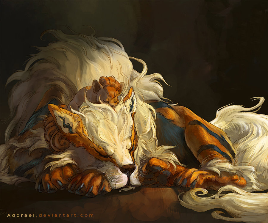 Cristina birtea arcanine and vulpix