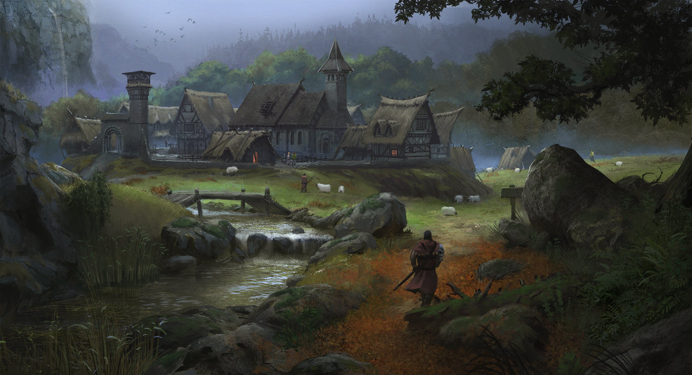 Medieval European Village - Art test