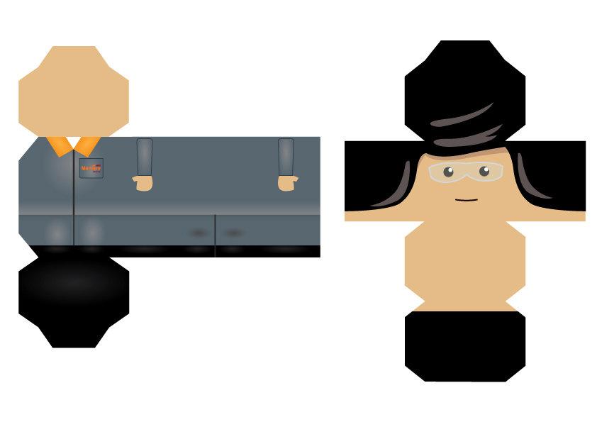 Adaptação de personagens para papercraft - Character adaptation for papercraft items