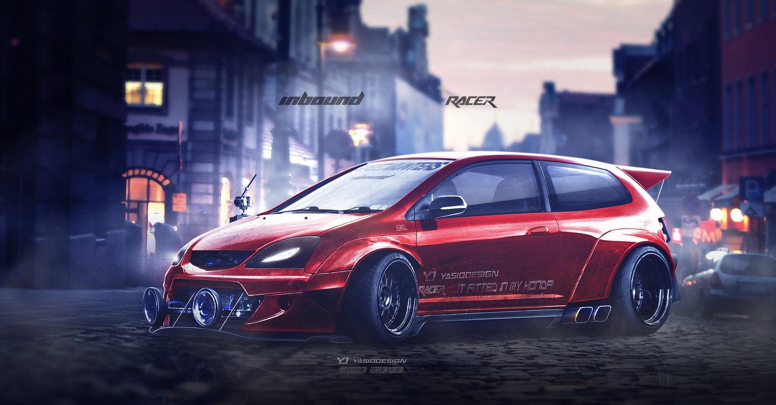 Honda Type R (EP3) Inbound racer V2 RED