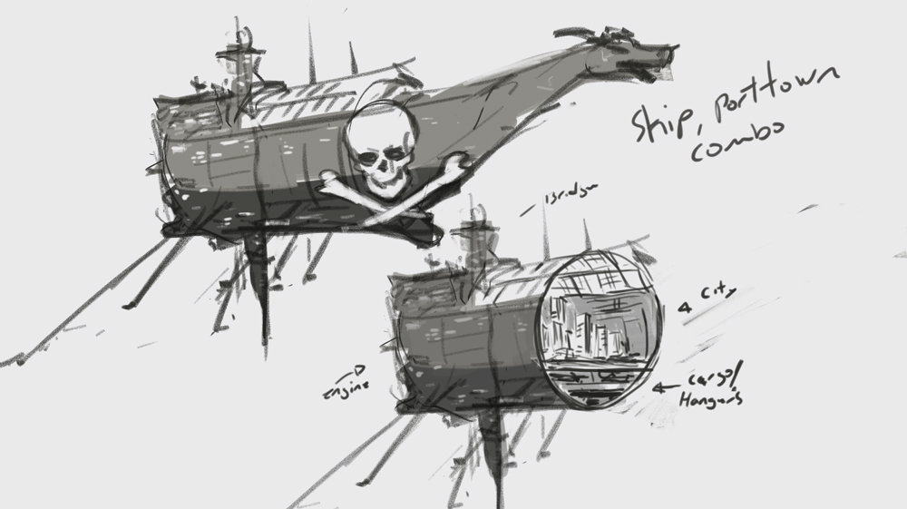 Pirate ship 1st pass