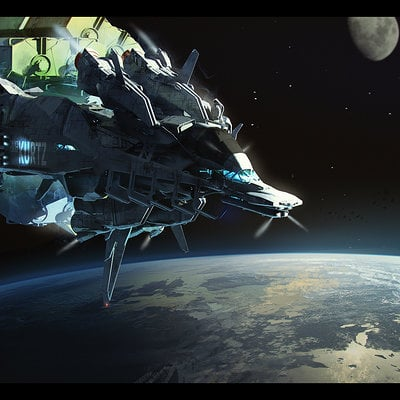 Brad wright cargoship in orbit