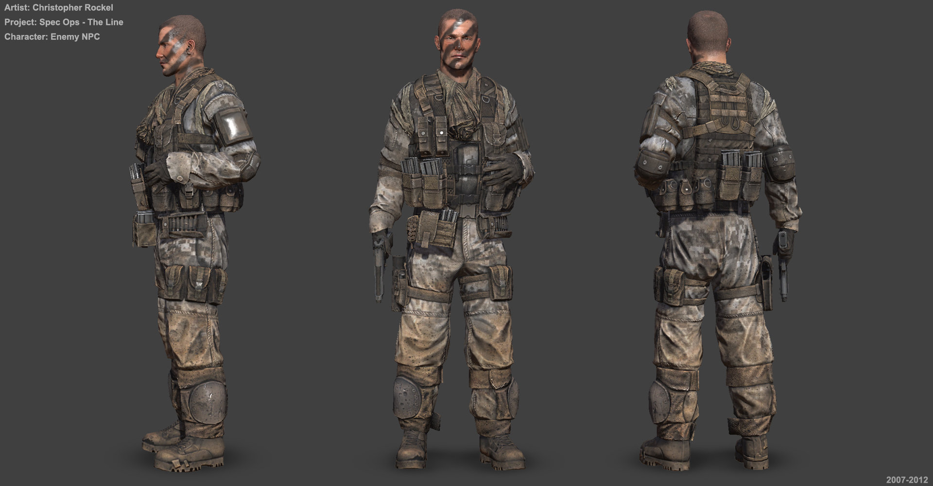 The Line Artist : Artstation spec ops the line characters christopher rockel