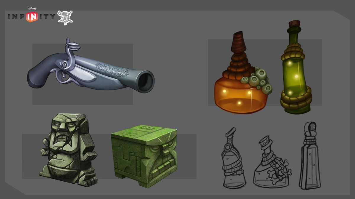 Some various props for around the pirates playset