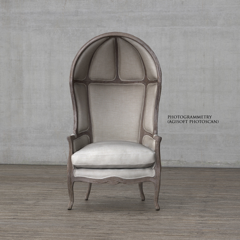 ArtStation Versailles Burlap Backed Chair Restoration Hardware