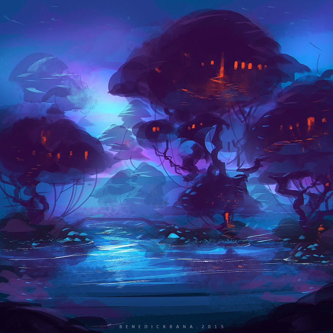 Benedick bana mystic night forest