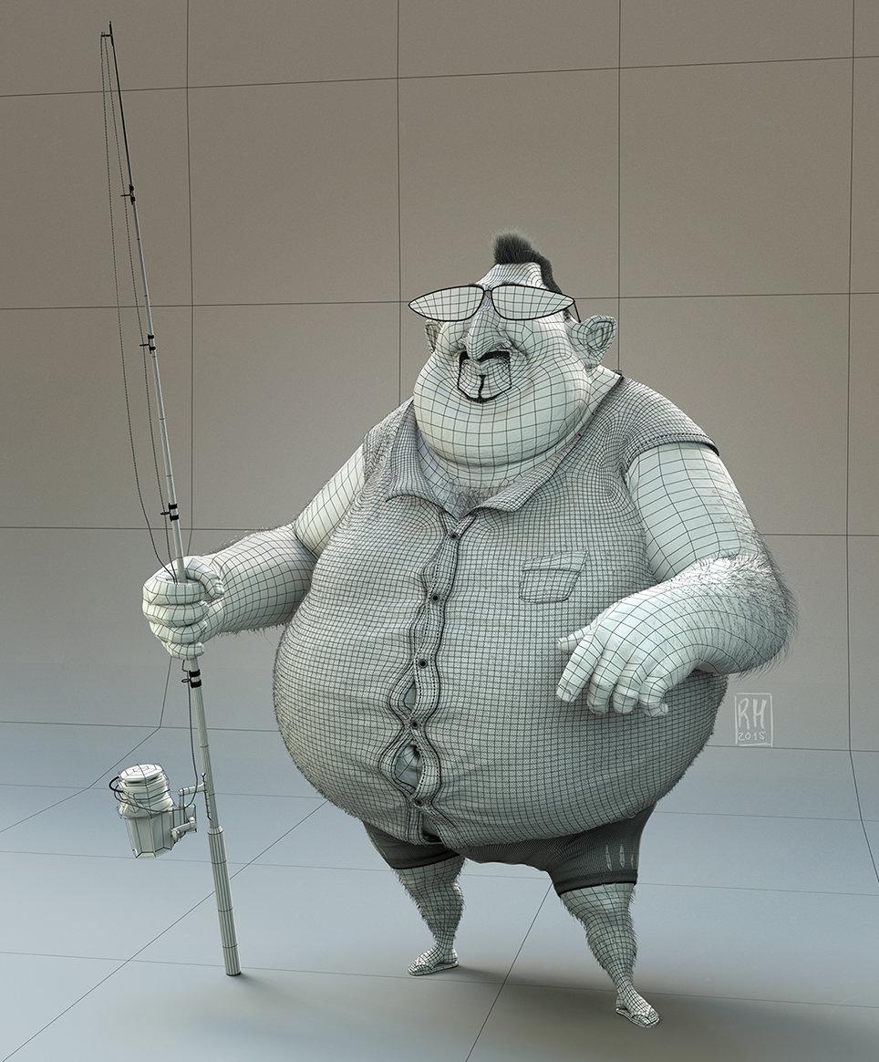 Ricardo manso fisherman wireframe s