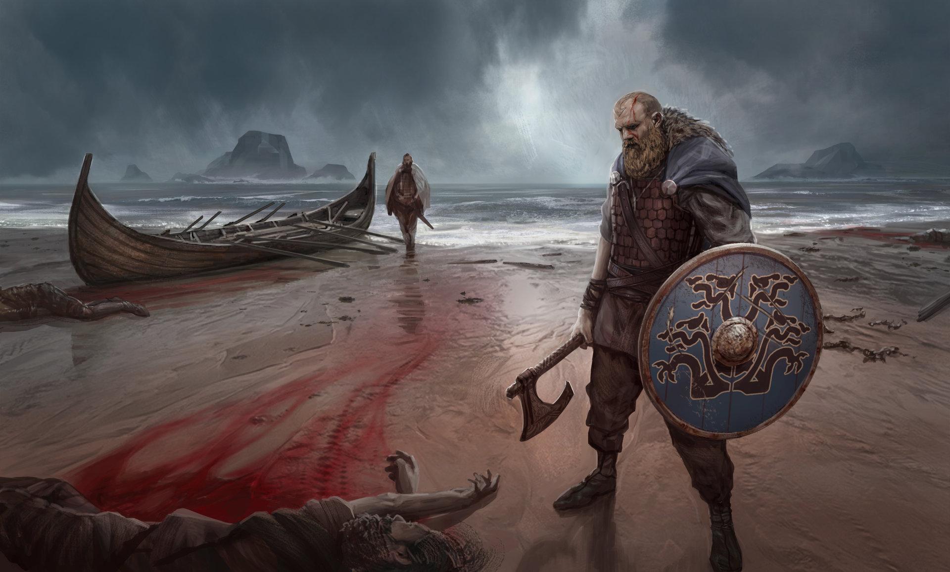 ArtStation - Viking Raiders, James Ives