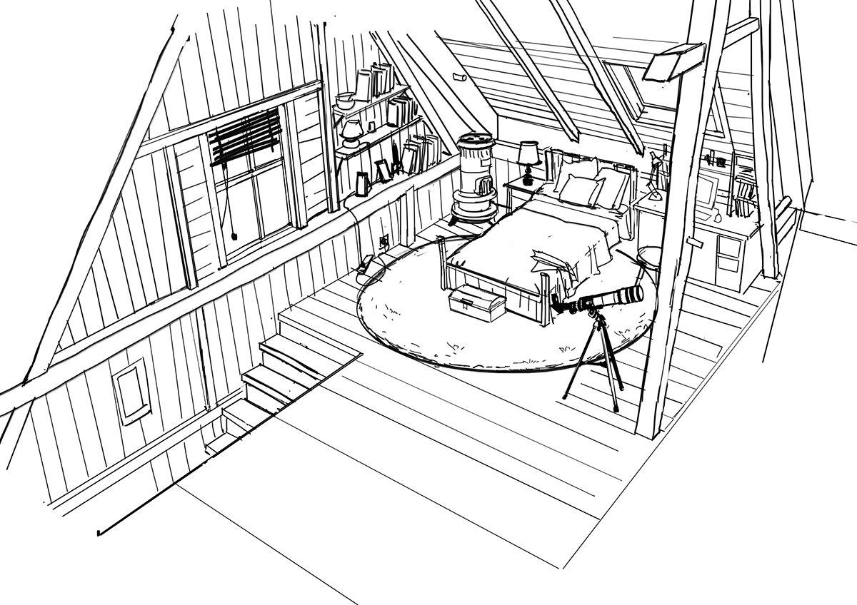 Clement dartigues cabane int chambre concept w004