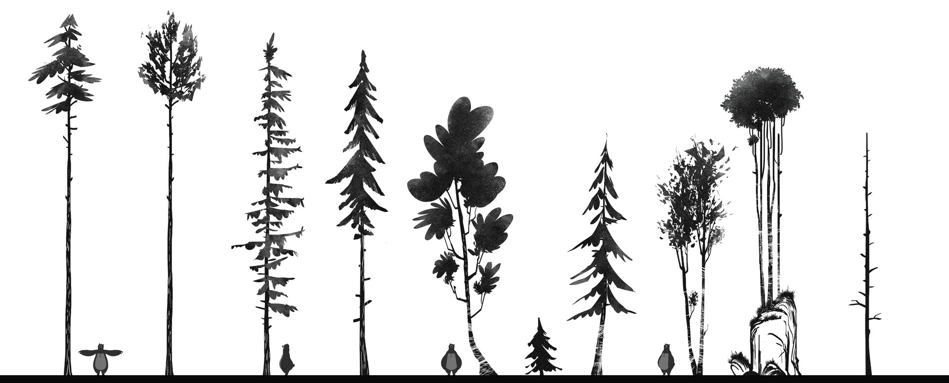 Clement dartigues sapins silhouettes