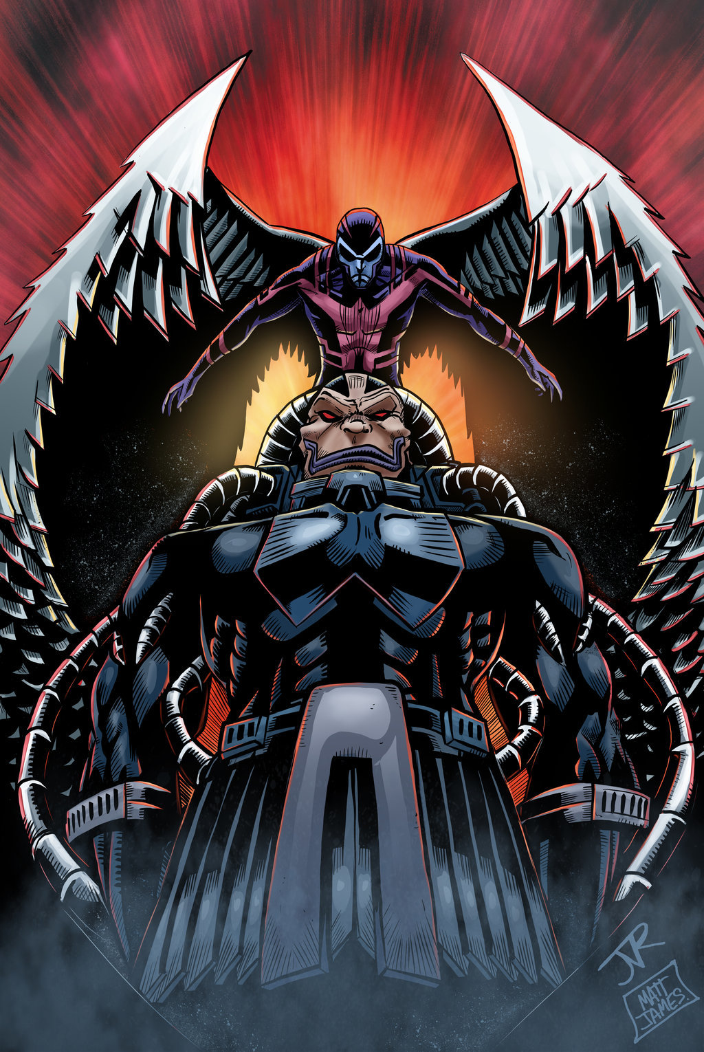 Matt james apocalypse and archangel by mattjamescomicarts d88z2gt