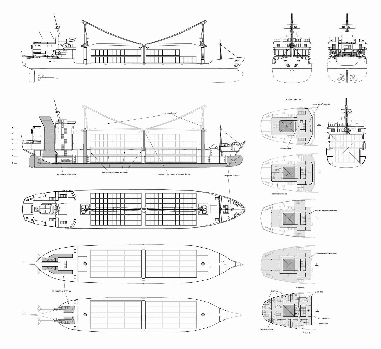 Dmitry popov resize of cargo ship plan