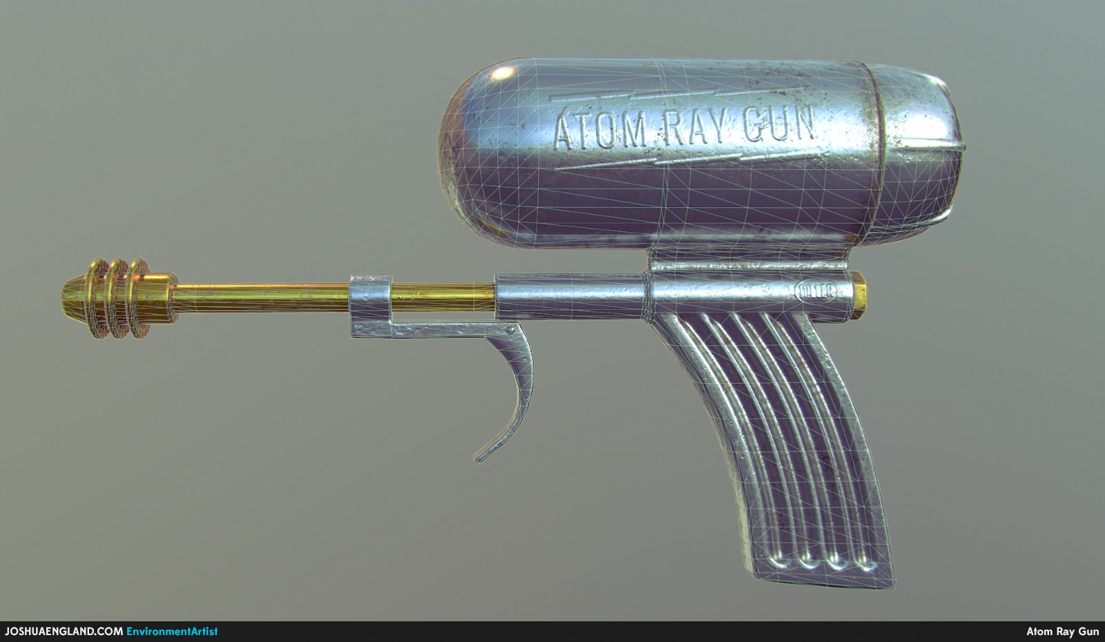 Atom Ray Gun Wireframe