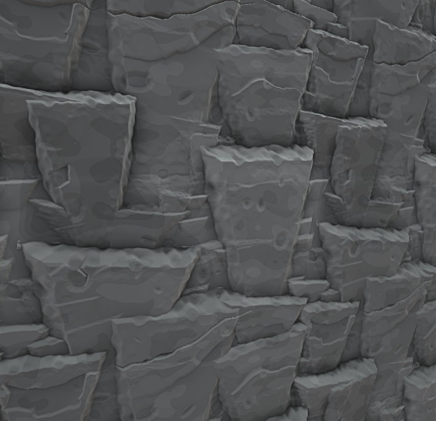 Fully Procedural cliff-face rocks. Work in progress