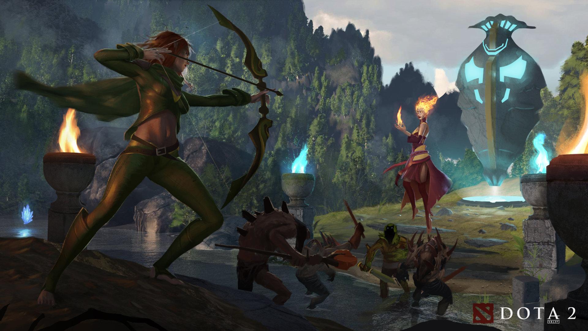 ArtStation - Dota 2: Battle at Mid, Stephen Stark