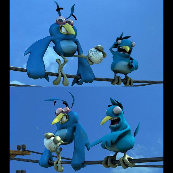 """""""Twitter Birds"""" models, original concept by Mathieu Beaulieu https://www.artstation.com/mathieubeaulieu"""