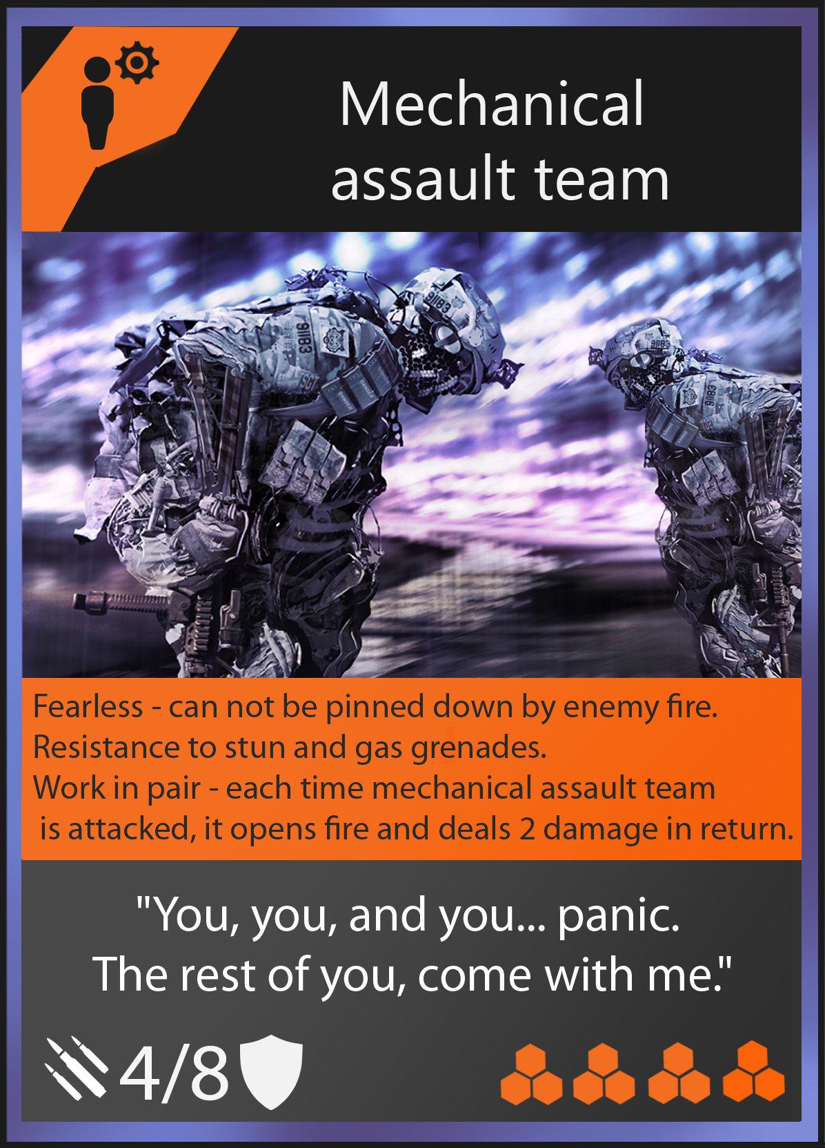 Oleg danilenko mechanical assault team card by olegdaniel d84g9f8