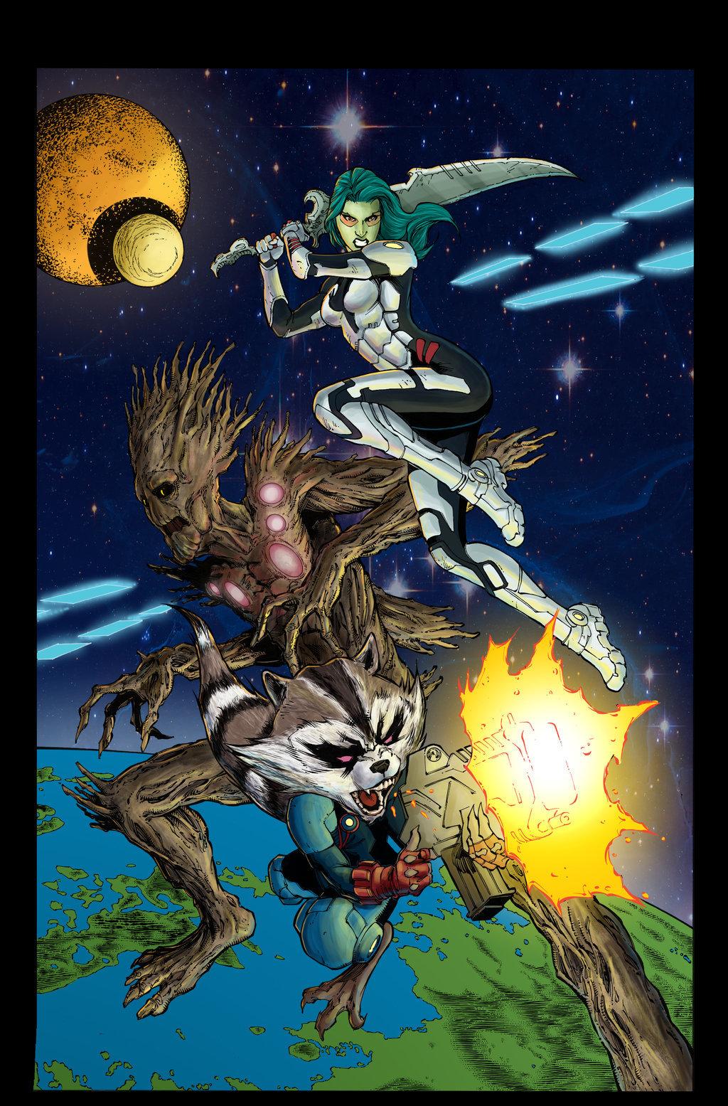 Matt james guardians of the galaxy by mattjamescomicarts d86nrw7