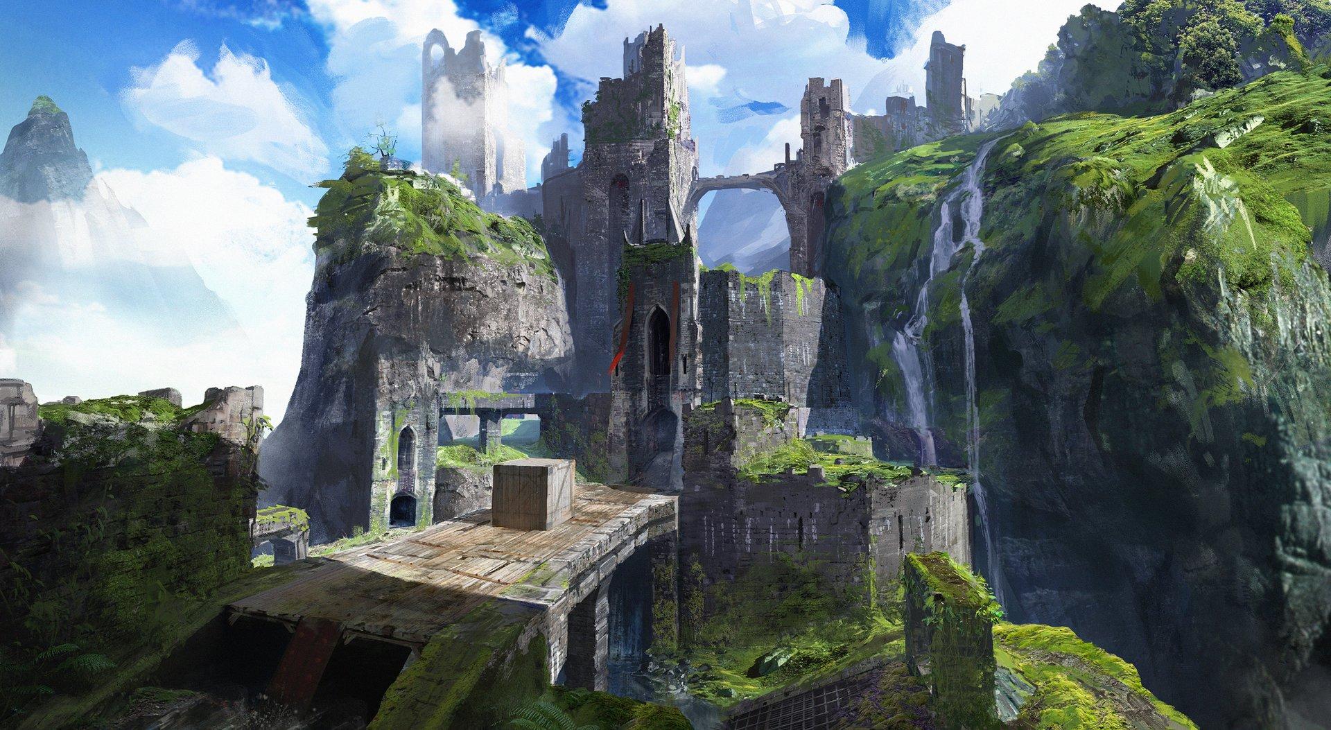 Castle Walkway Concept Art