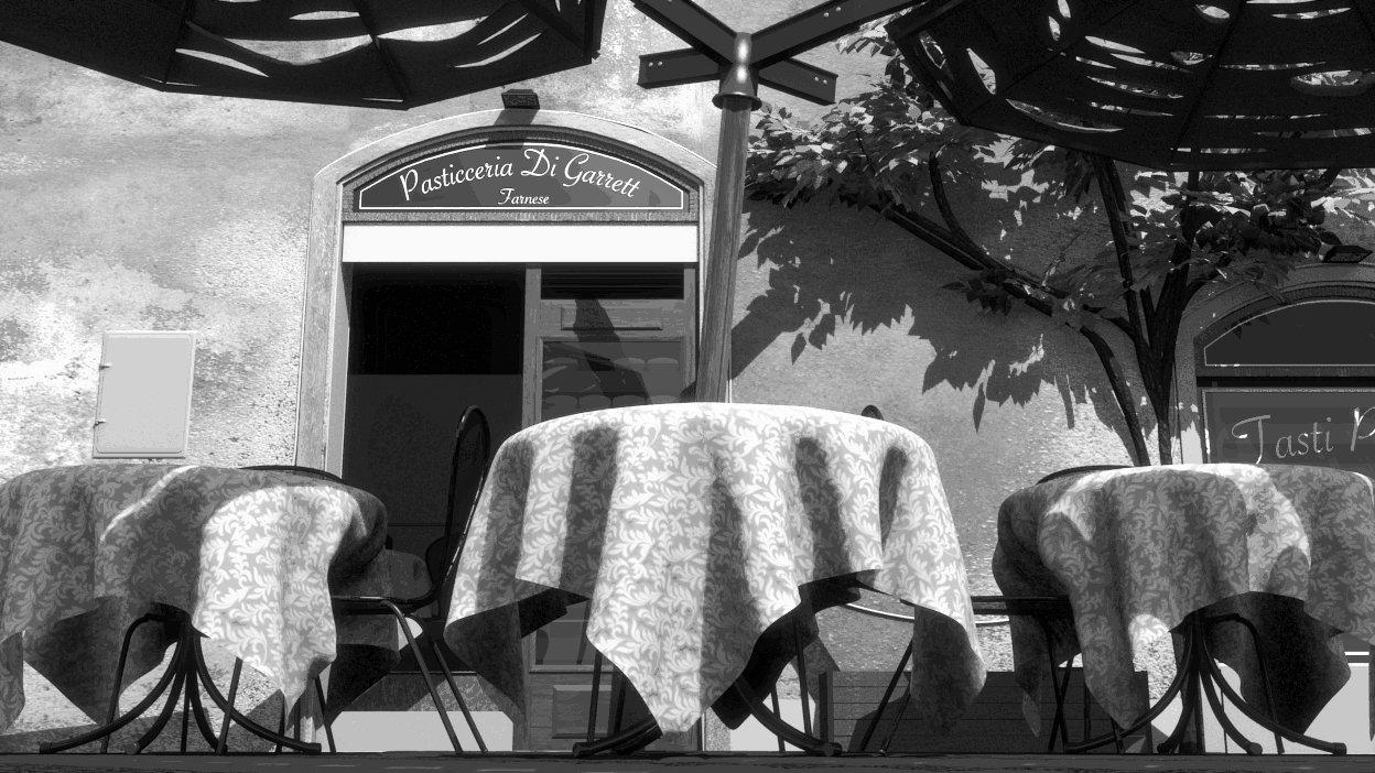 Garrett s cafe greyscale