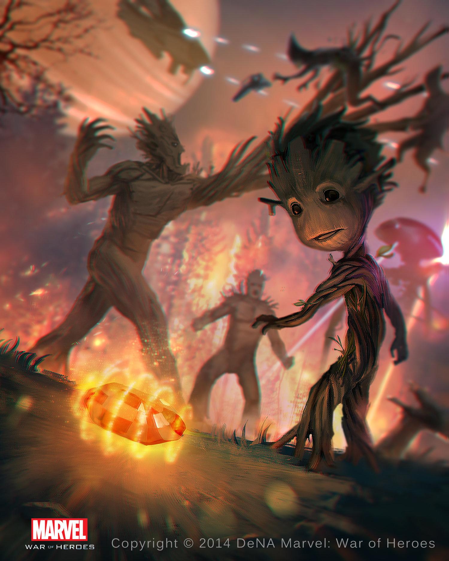 ArtStation - Groot - Marvel War of Heroes, Cuong Le Manh