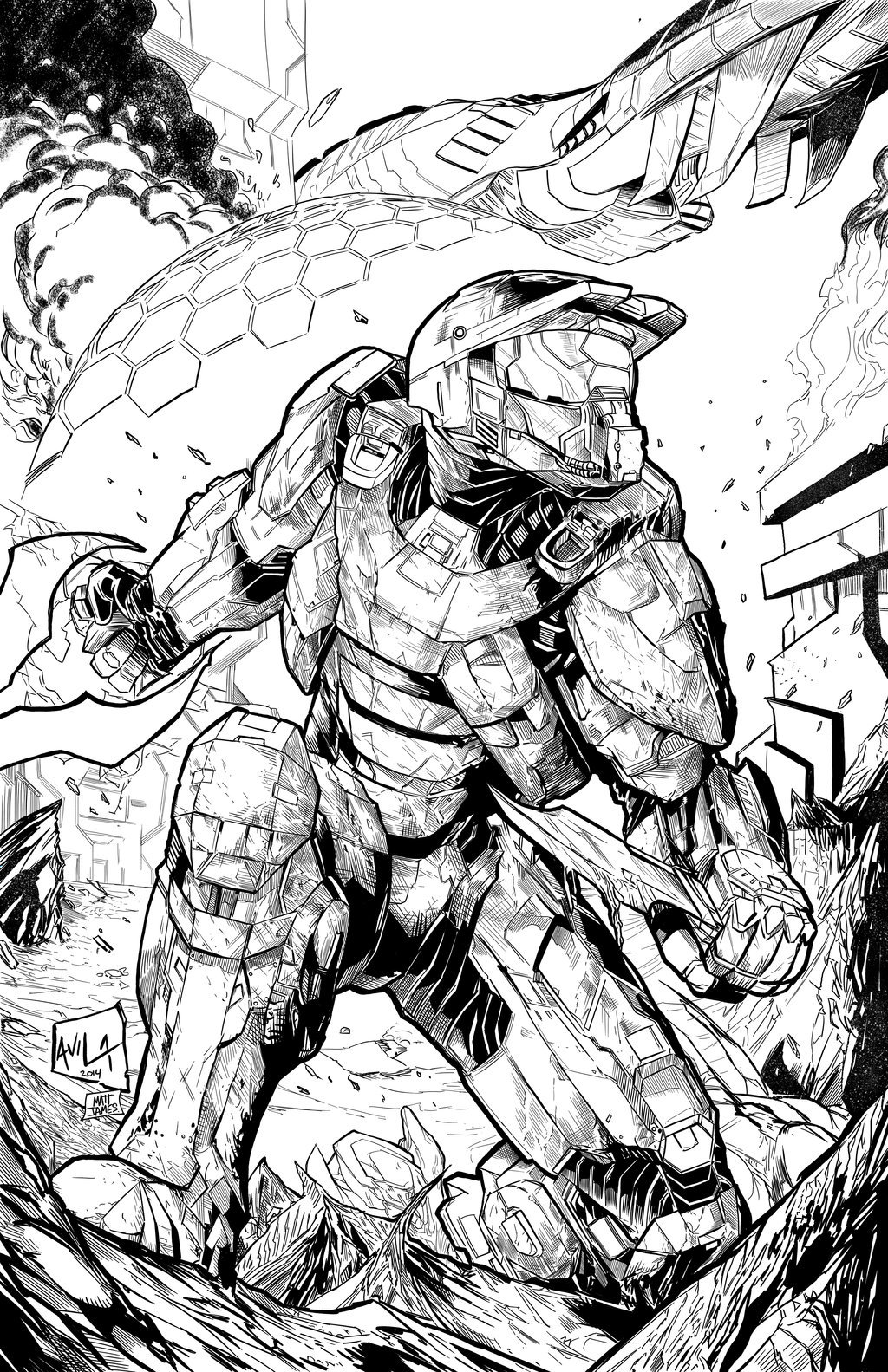 Matt james halo master chief by mattjamescomicarts d802ed5