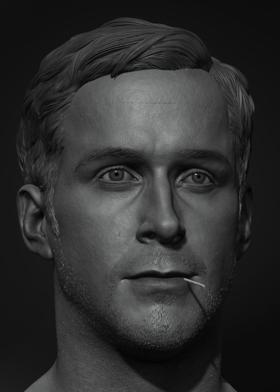Ryan Gosling- Drive(For 3D Print)
