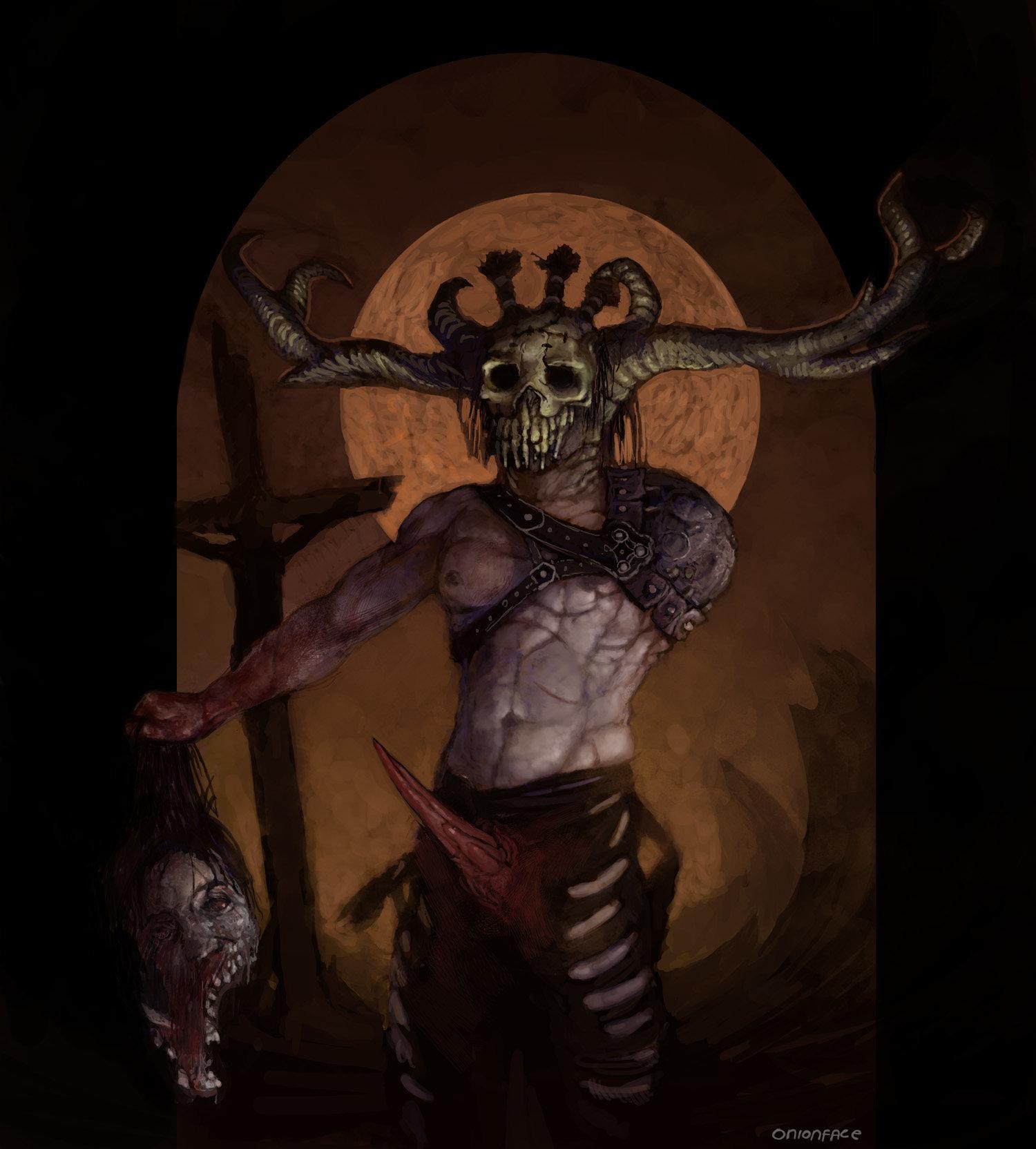 West clendinning skull worrior as