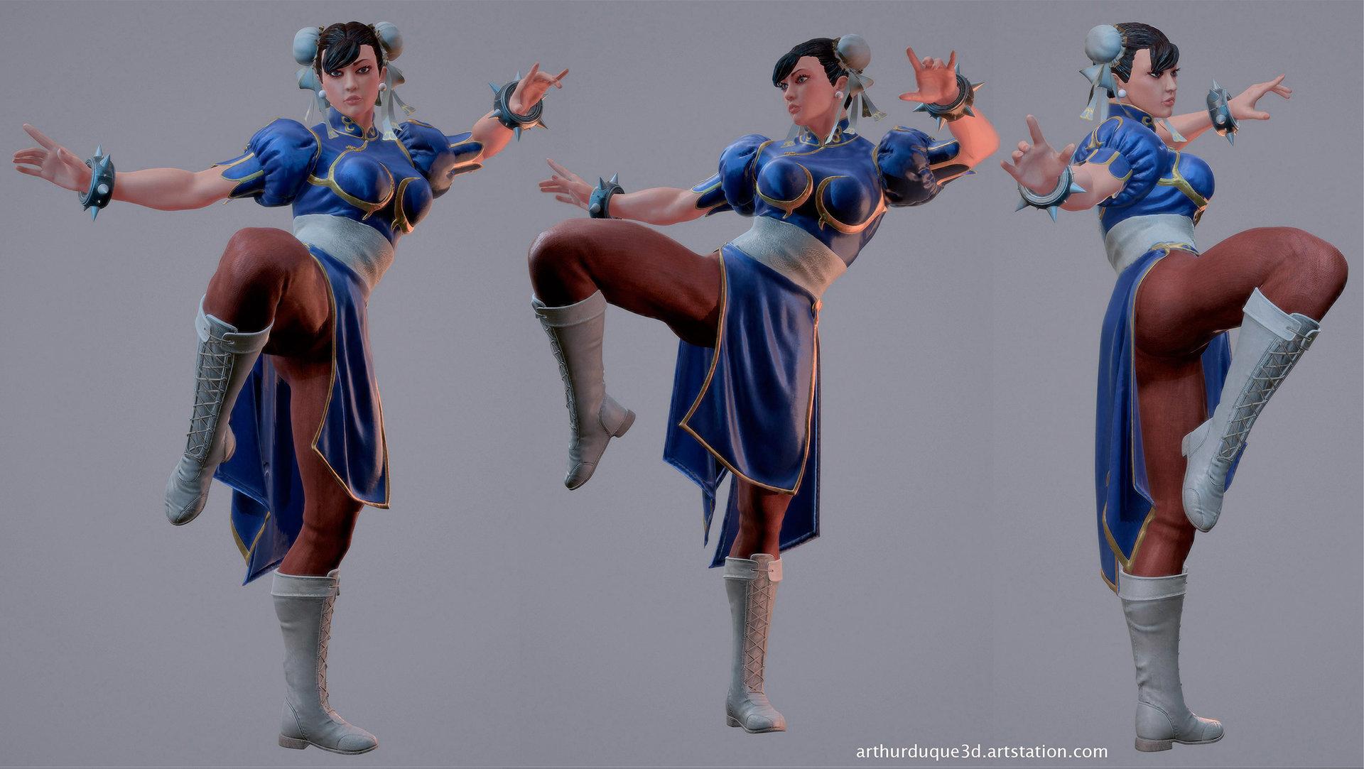 Arthur Duque Chun Li Fan Art