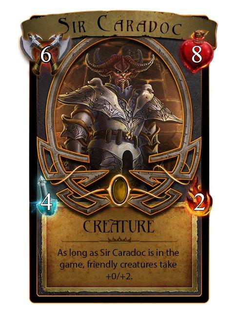 Sir Caradoc Card