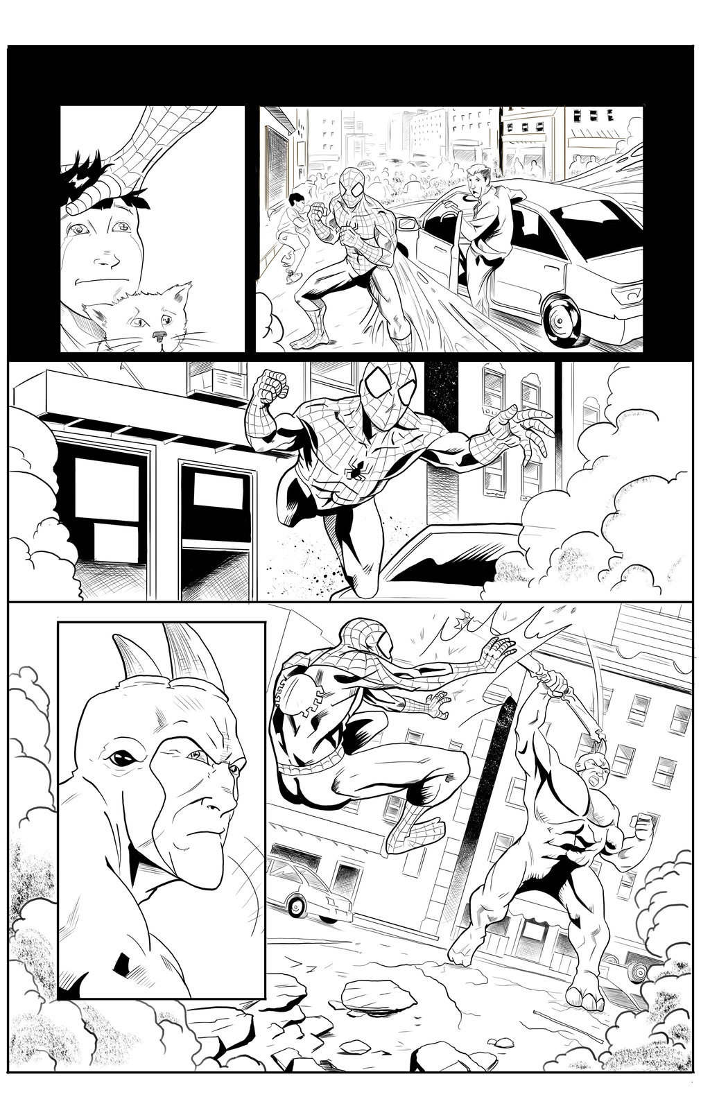 Matt james spider man sample page 5 by mattjamescomicarts d7hb5ji