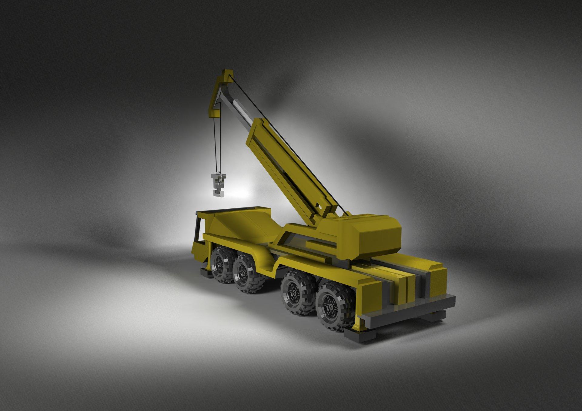 Harry Yeomans - Lego Crane 3D Model