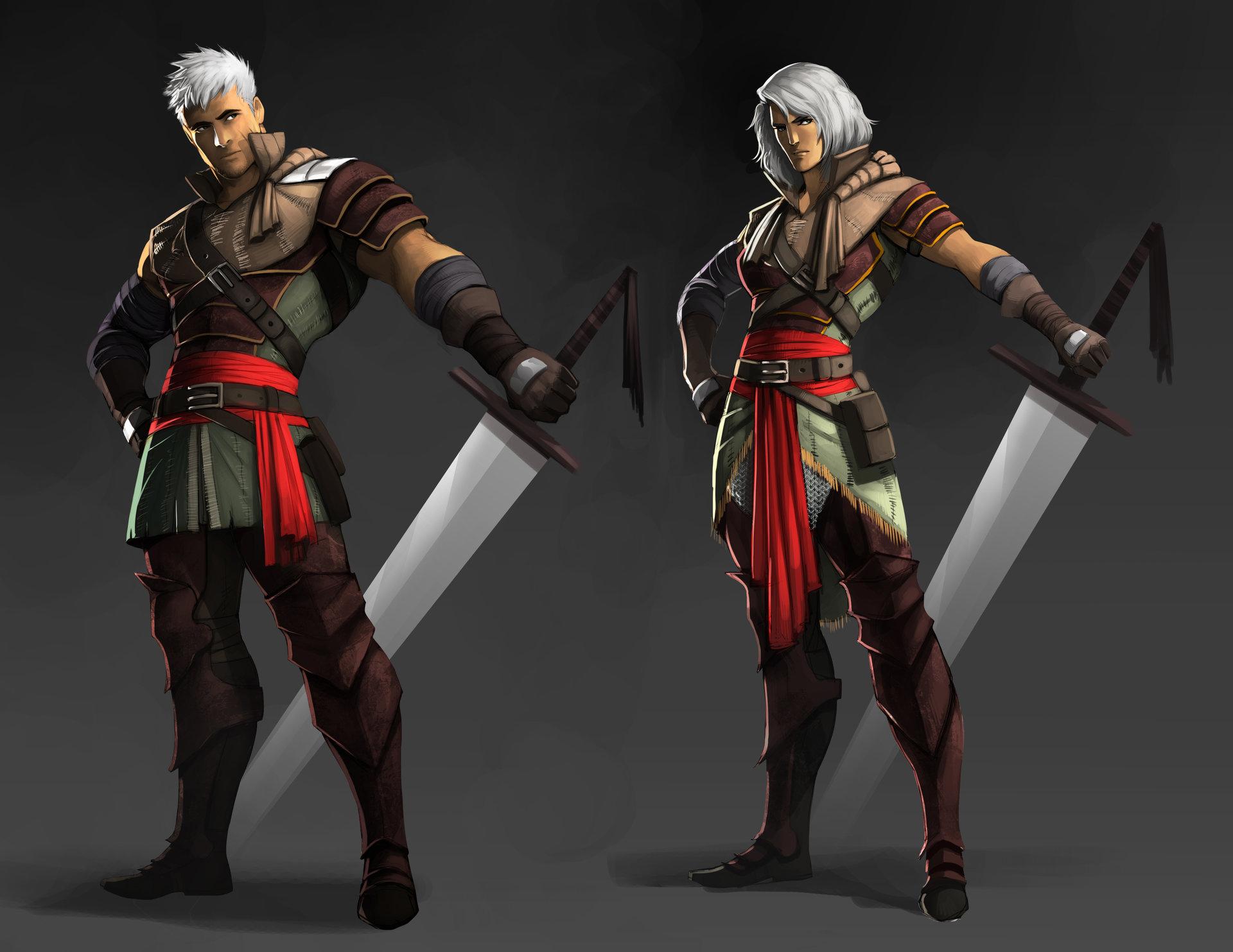 sara gilardi warrior character design