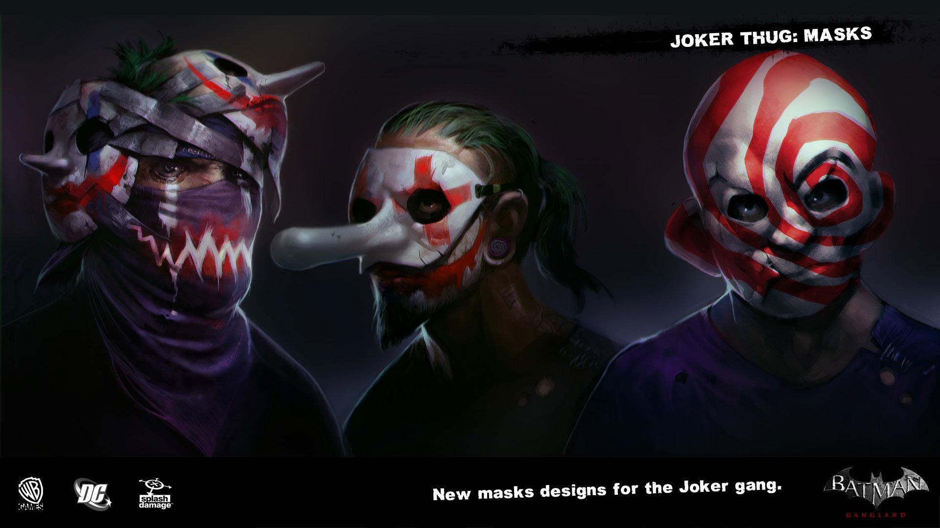 Manuel augusto dischinger moura splashdamage joker thug outfit masks