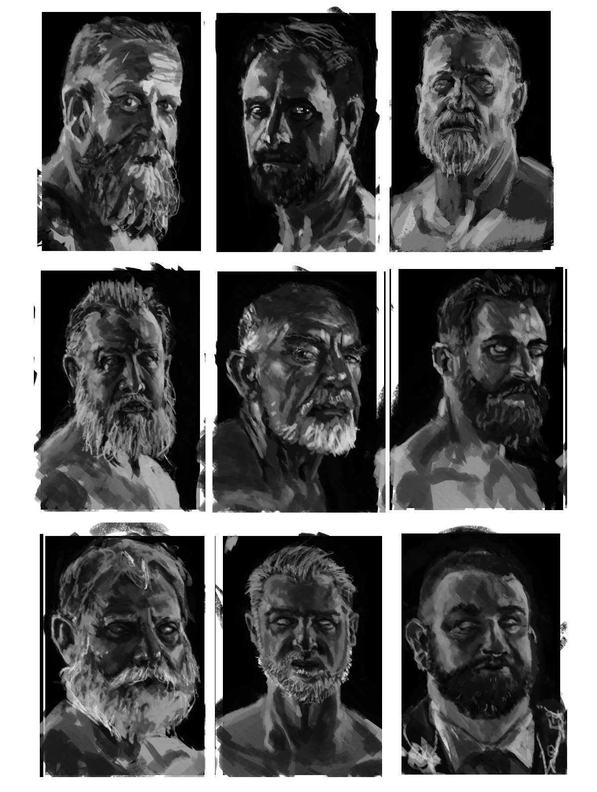 Konrad langa face studies