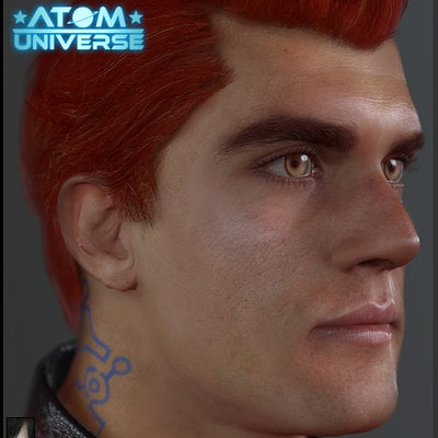 Real-time Adam model done for Atom Universe 2015