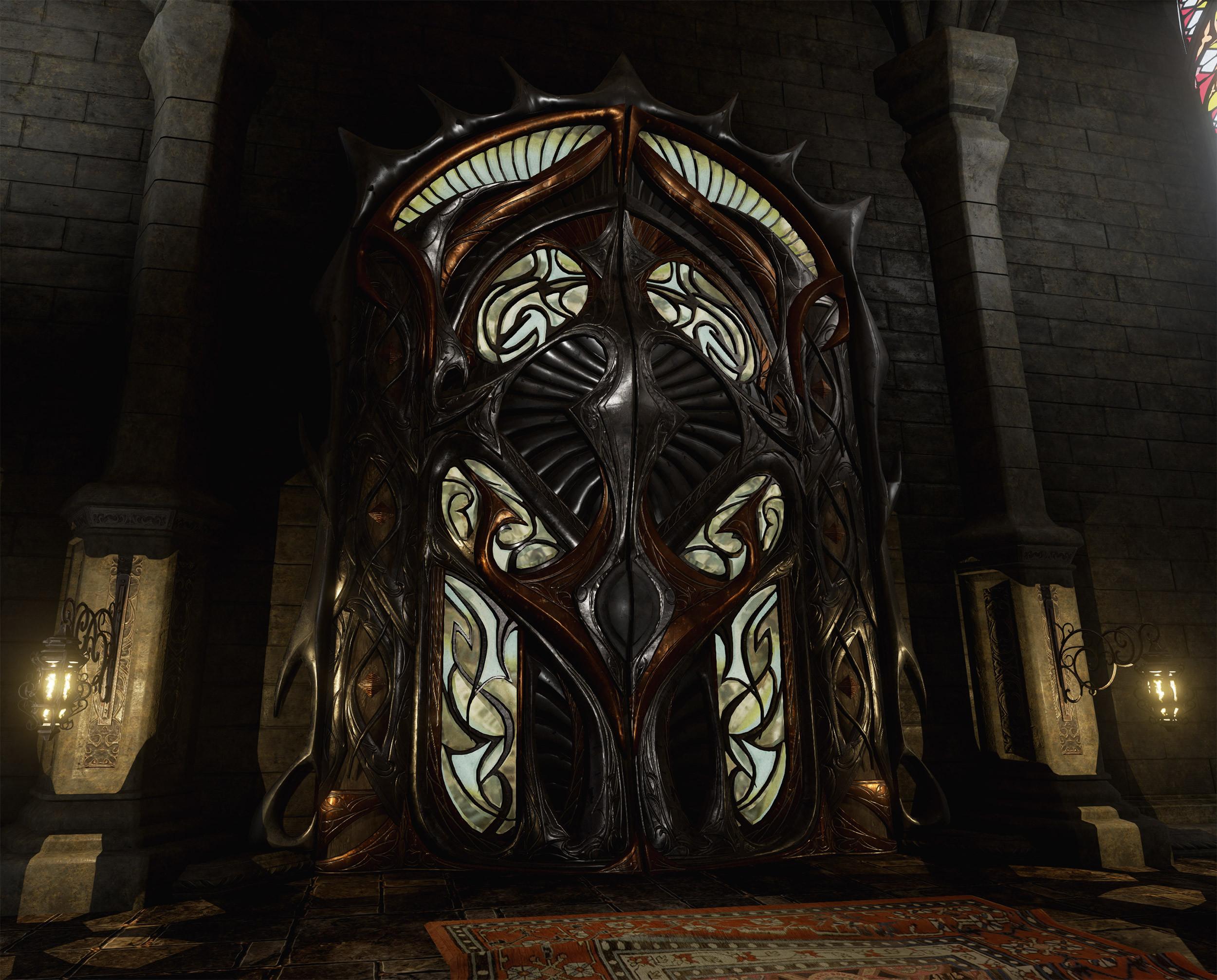 Grand door.