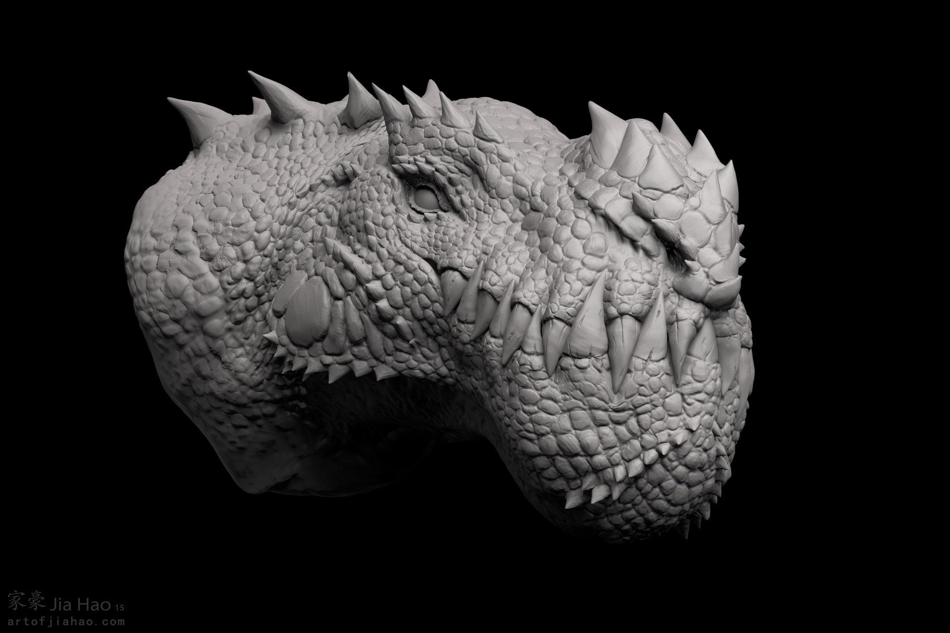 Jia hao 2015 09 cryosaurus sculpt 01