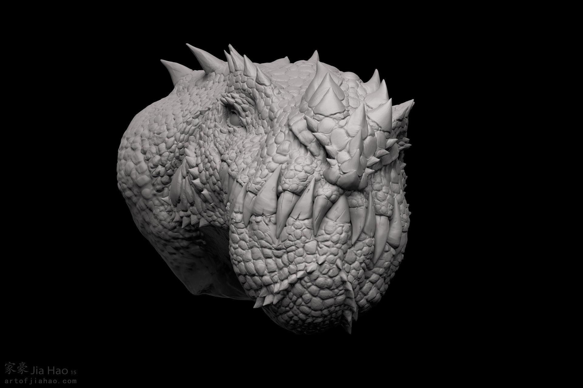 Jia hao 2015 09 cryosaurus sculpt 03