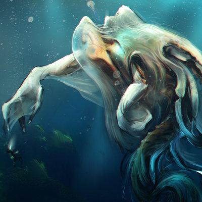 Alex lazar aquatic alien creature thing fin