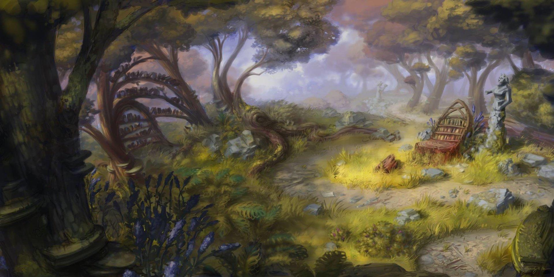 Deep Woods Key Art by Zachary D. Coe