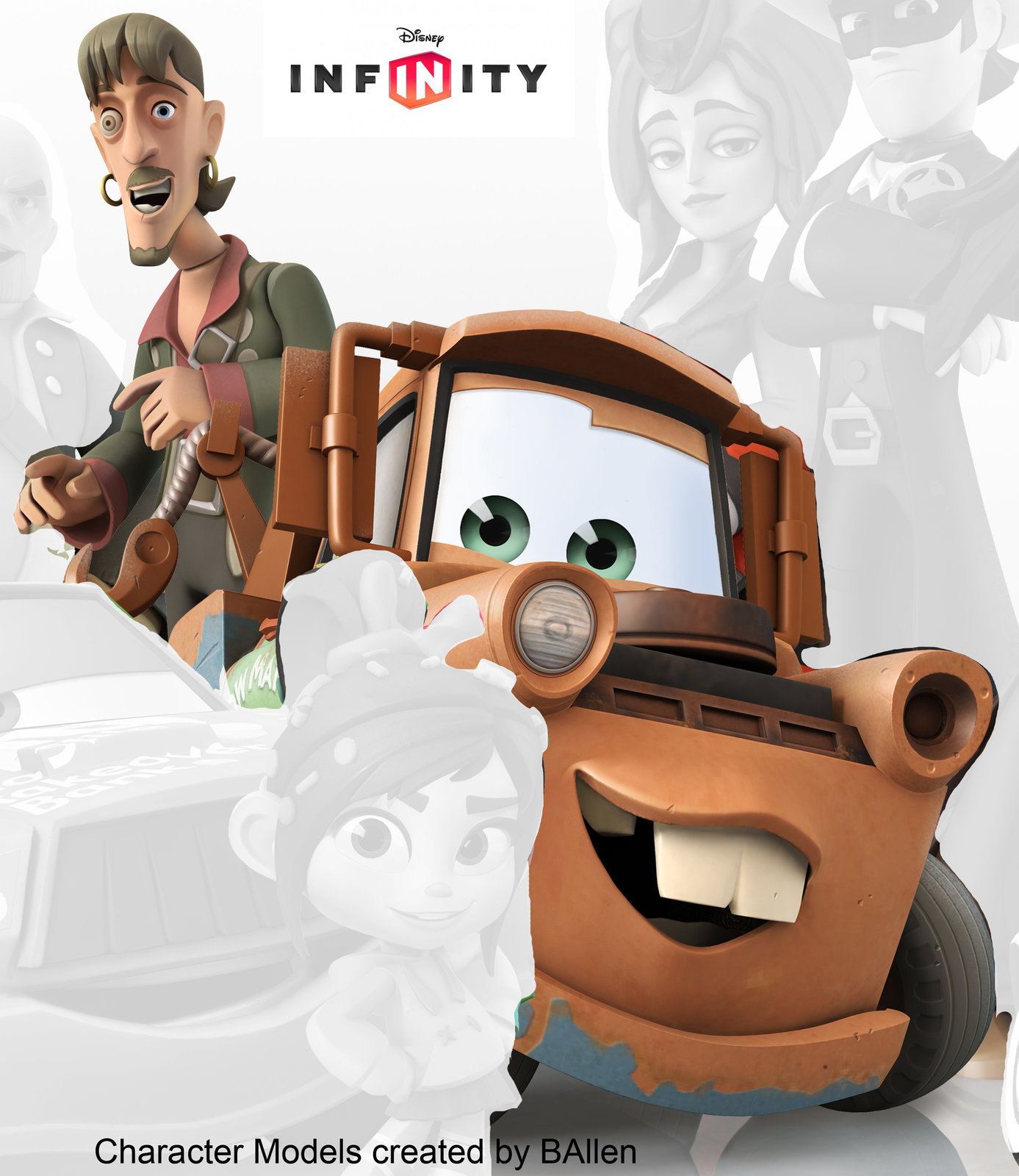 Ragetti and Mater character models created by BAllen