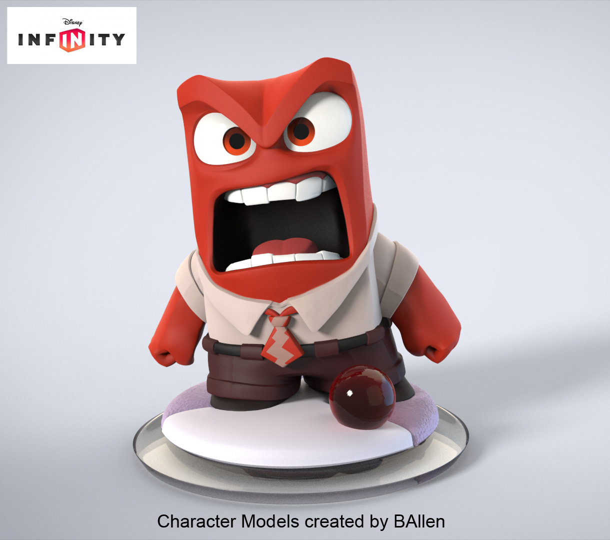 Anger Character Model by BAllen